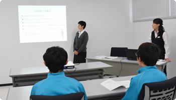 川中島中学校 接客接遇委員会の様子