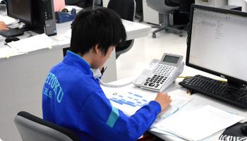 広徳中学校 職場体験の様子
