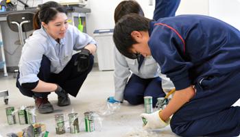 松代中学校 職場体験学習の様子