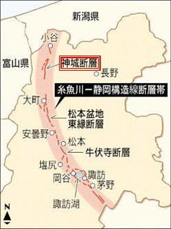 神城域断層MAP